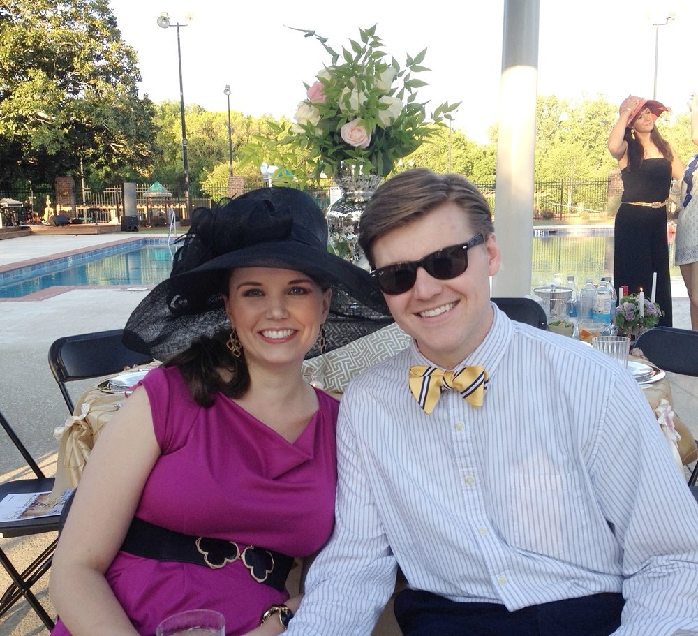 Braxton and I during the May 2014 Chastain Night (I wish I had a picture with the Trinos that night!) - FYI - I'm pregnant in the picture with my oldest, Allie!