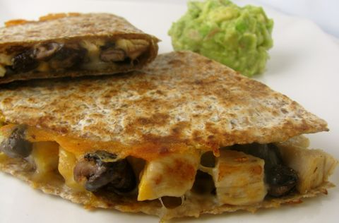 Turkey and Black Bean Quesadilla