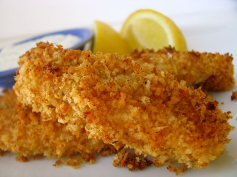 Crispy Crunchy Baked Fish Sticks