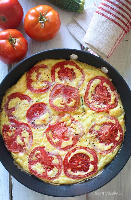 Summer Tomato Zucchini Frittata