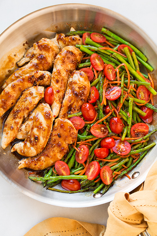 One Pan Balsamic Chicken with Veggies