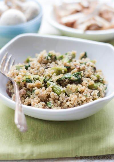 Porcini Mushroom Quinoa Risotto