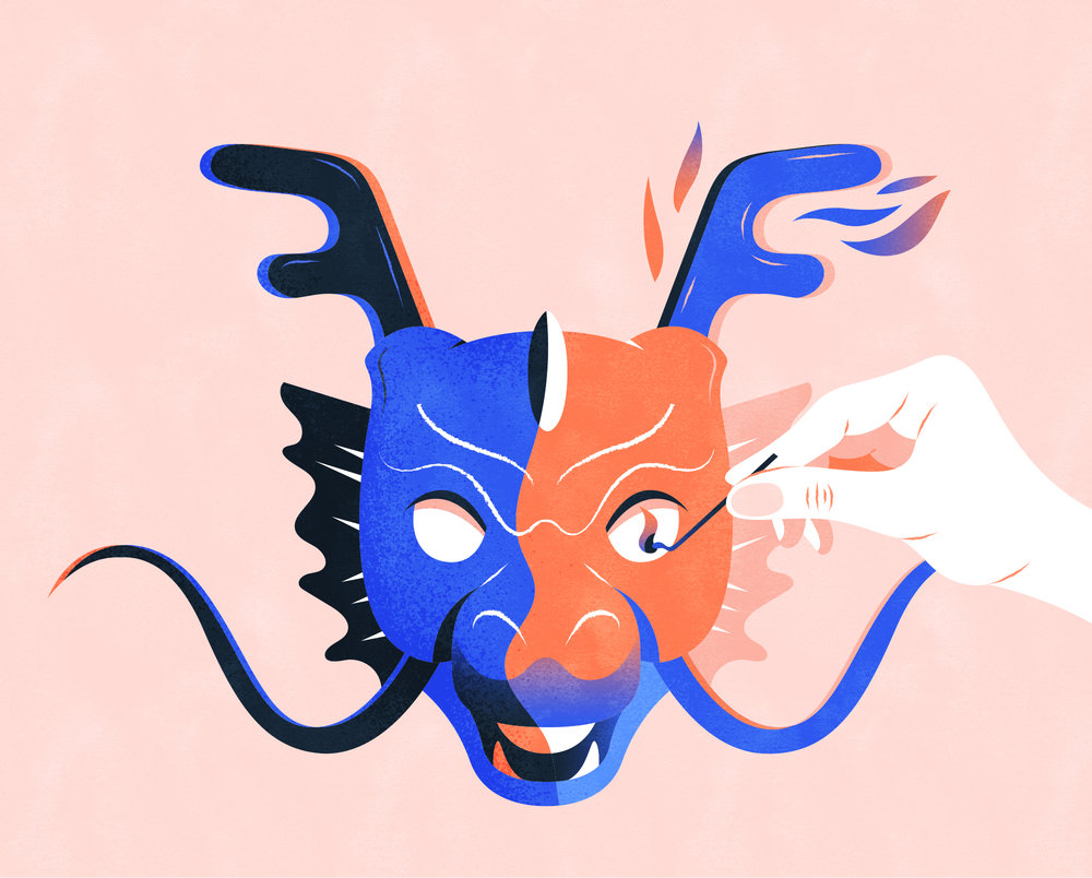 "画龙点睛 v. - ""Draw a dragon and put a pupil to its eye."" - Make the final touch to bring the art to life.e.g. You did well in writing this sentence, which works as 画龙点睛 for the whole article."