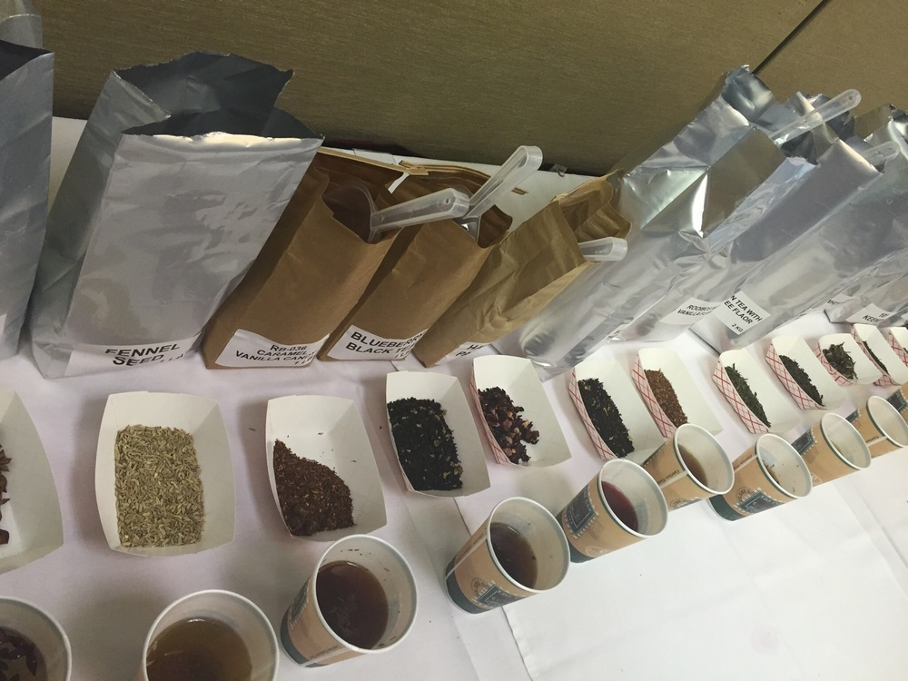 Sampling and selecting blending ingredients for a personalized blend.