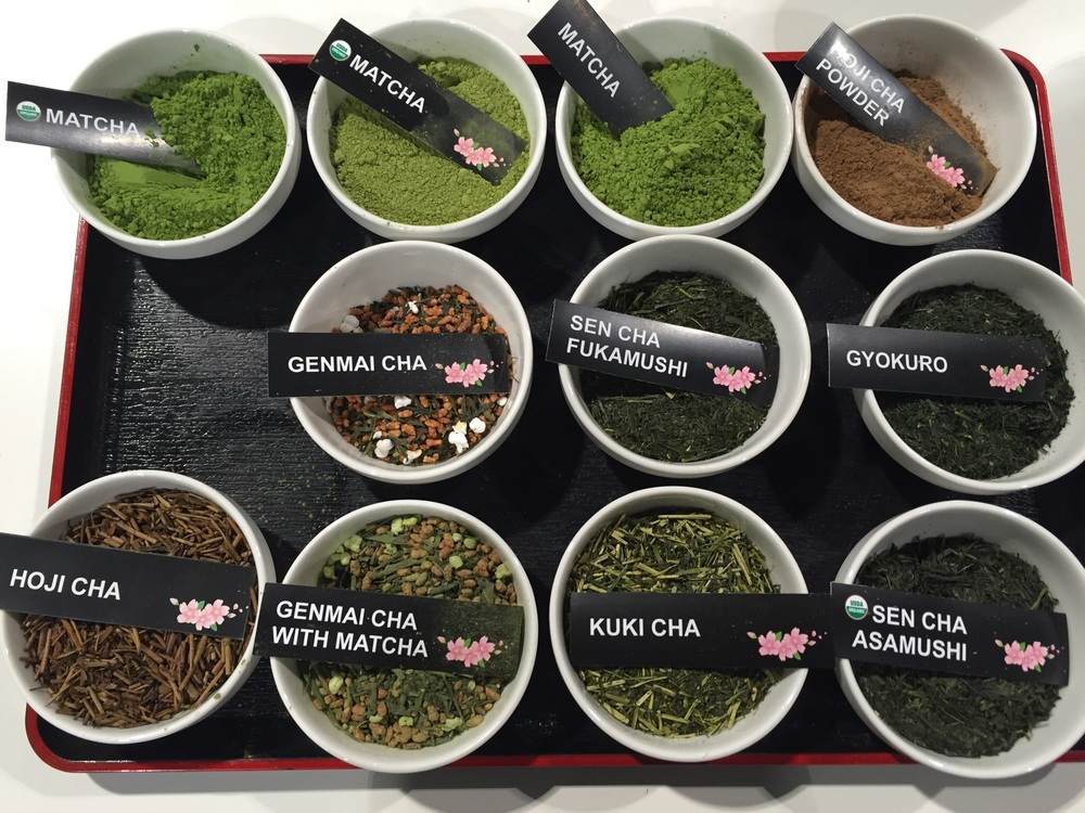 A sampling of the many speciality teas available for cupping at the WTE 2016