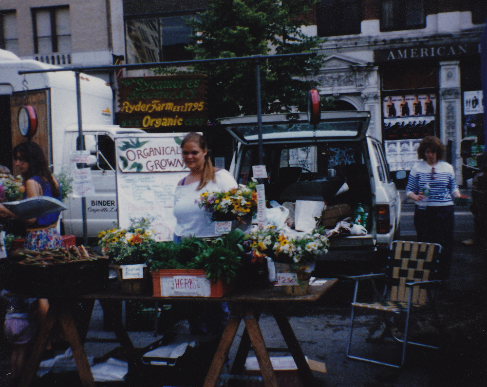 Betsey Ryder at The Union Square Greenmarket, 1988