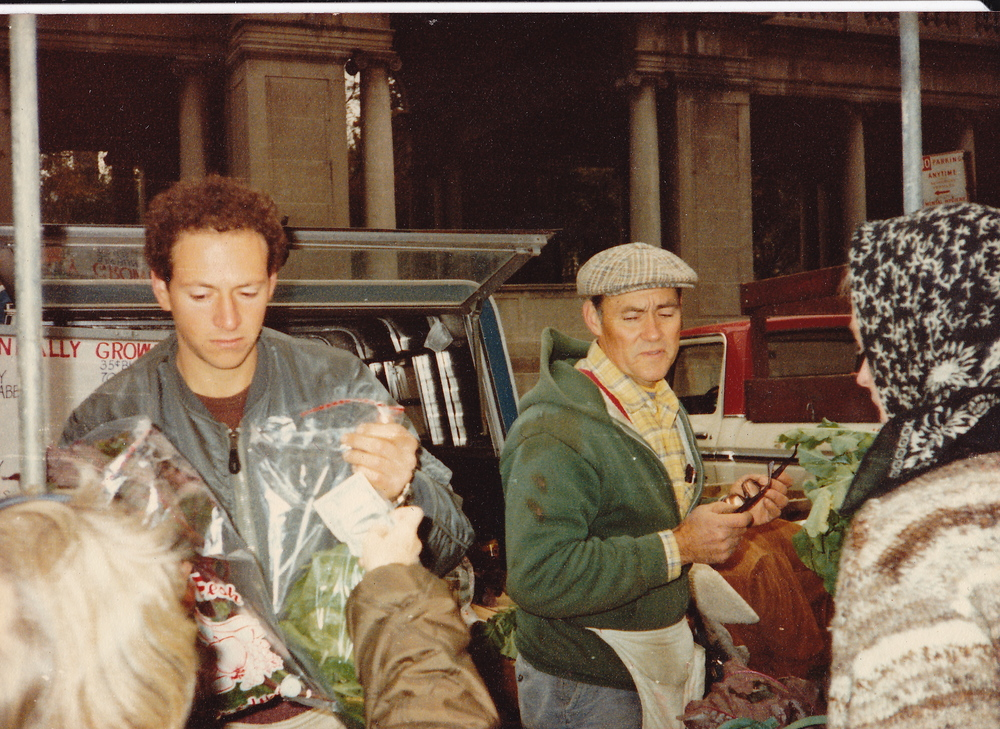 Hall Gibson at The Union Square Greenmarket, 1980s