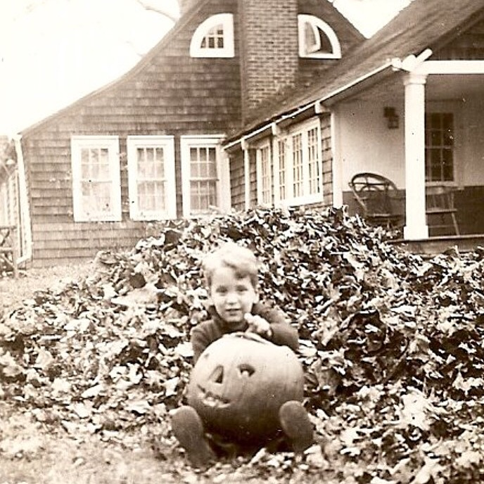 David Weber    Celebrating Halloween outside The Sycamores in 1945 year. David currently sits on SPACE on Ryder Farm's Board of Directors.