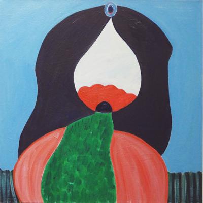 """Sheila Lanham,  Poppy Field , oil on canvas, 20 x 20"""", 2018"""