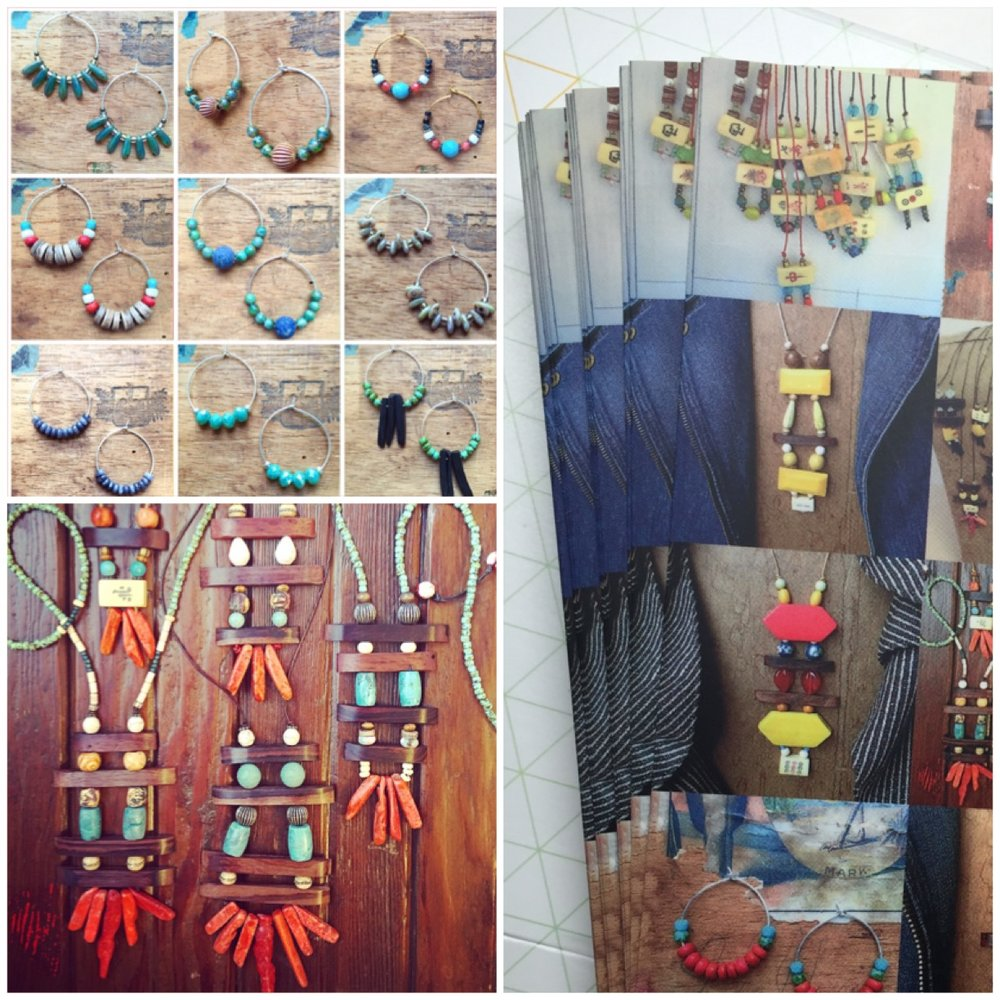 Let's have a Pop-up! I also make fun & affordable earrings that can be part of a pop up, or, it can be necklaces only. I have a terrific display I can bring to your store.