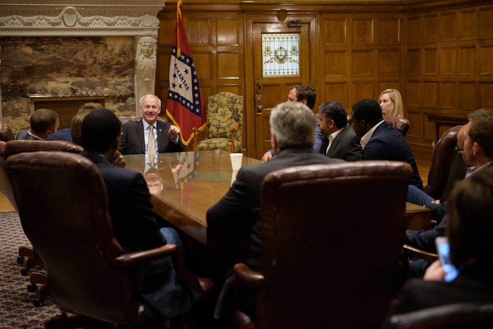 Photo: VC FinTech Founders in private meeting with Governor Asa Hutchinson Read the full article in Smart Asset.