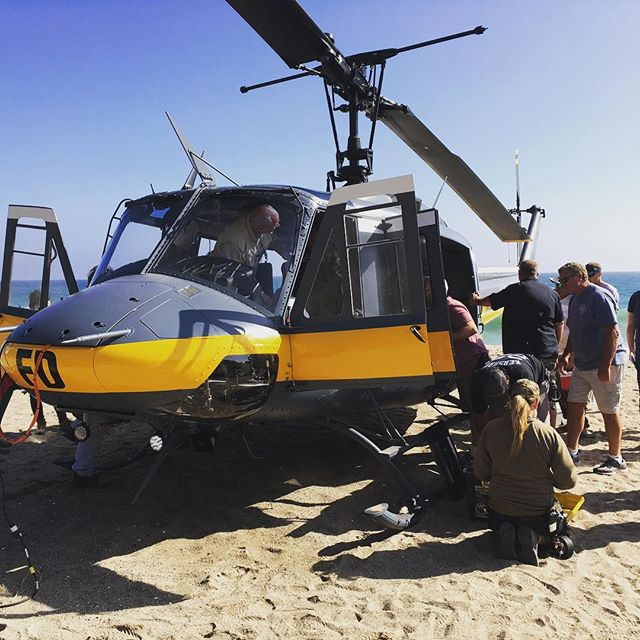 On the beach for the upcoming season of #codeblack.  #aerialfilming #cbs #setlife #212 #medevac @larrywelk @kriewall88 @markgerasimenko @awa_girl