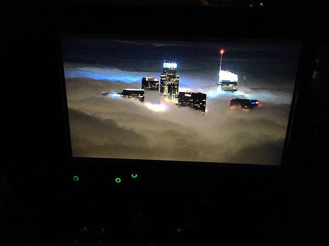 City in the clouds #airbus #helicopter #helicopterpilot #aerialfilming #losangeles #as350