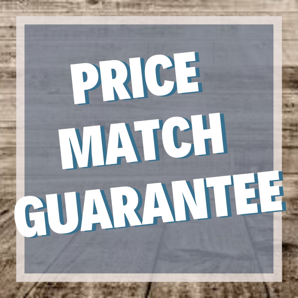 Price match guarantee on all competitor pricing! - Show us a previous invoice or estimate, or online pricing, from a competitor within the past six months and we'll match it apples-to-apples. Handwritten, text, emailed, or quotes through social media may be considered but not guaranteed. Competitor coupons, discounts, or other special offers do not apply. Offer valid on all products offered through our site.