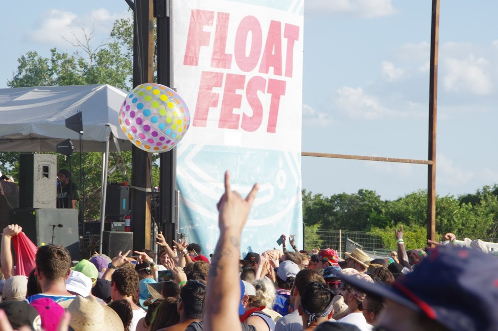 Rock on, Float Fest. Photo by: Nathan Edge