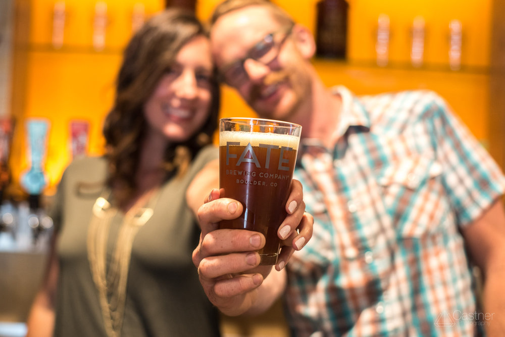 fate brewery fun boulder engagement wedding photographers