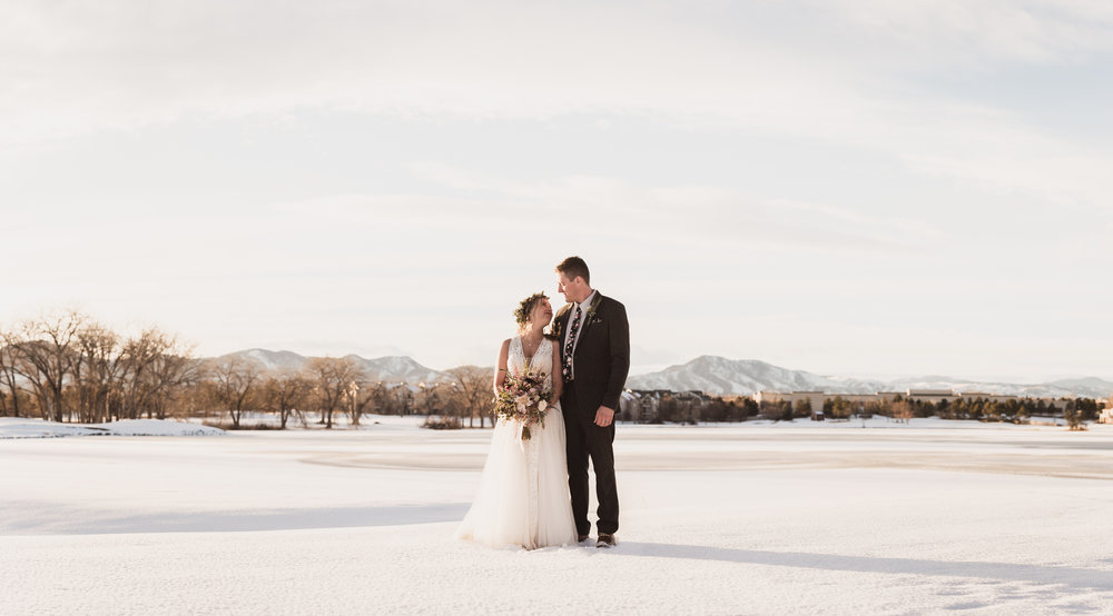 raccoon creek wedding photographers boulder colorado winter