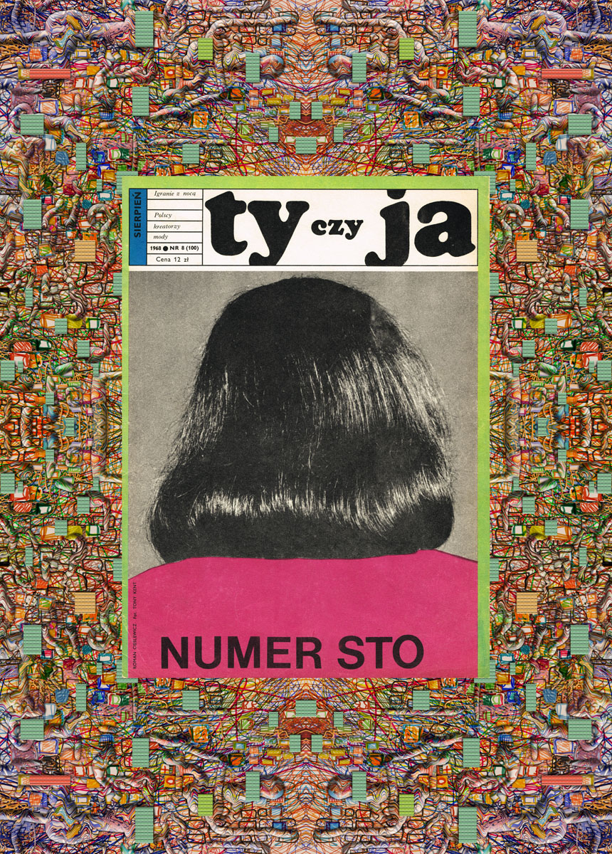 Cover of Ty i Ja magazine, entitled Hundred Issues. Graphic design: Roman Cieślewicz. Photo: Tony Kent