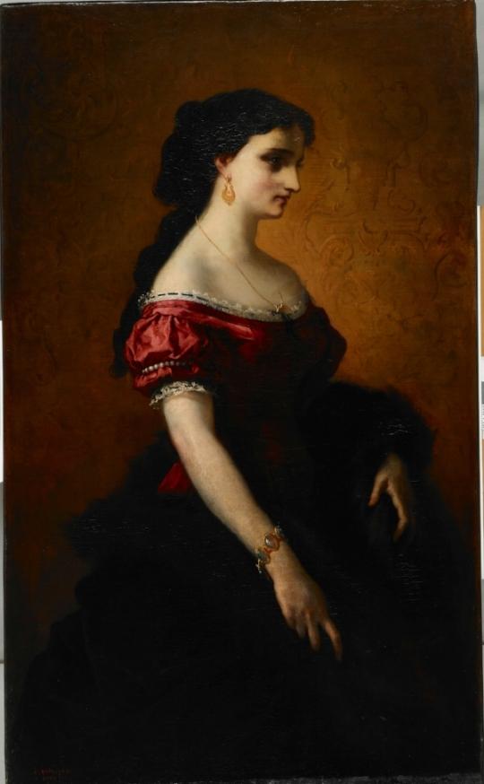 Portrait of Helena Sanguszko (1868)painted in Rome by Antoine Bourlard, Muzeum Okręgowe w Tarnowie