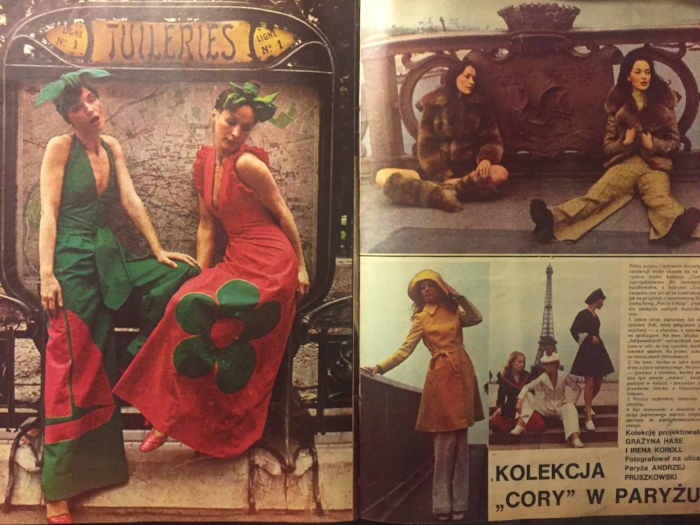 Cora collection in Paris, photo Andrzej Pruszkowski, Ty i ja (issues 148), 1972