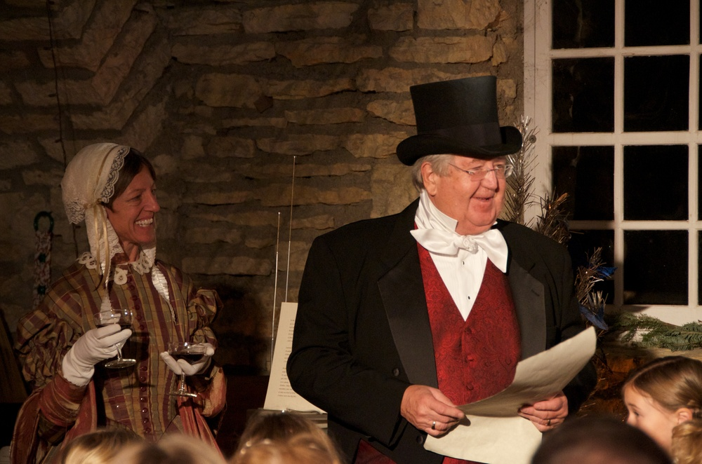 Mayor Ardell Brede as lord mayor in a Christmas Carol - 2013