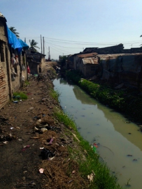Polluted Canal in Jangwani