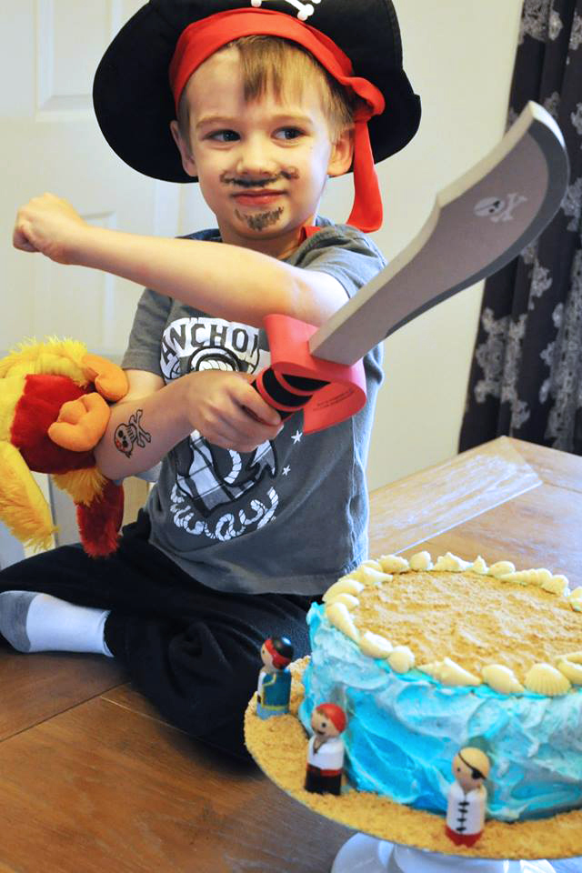 Every year is special, but I was especially fond of Milo's pirate birthday cake.