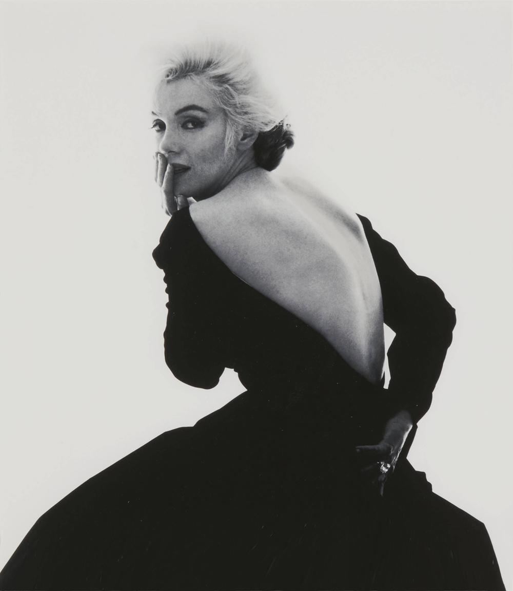 "Marilyn Monroe in a Dior dress; from ""The Last Sitting"" by Bern Stern (1962)"
