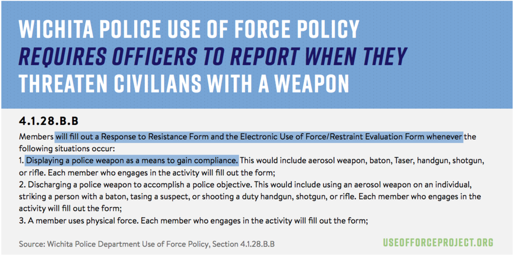 Use of force police when to report