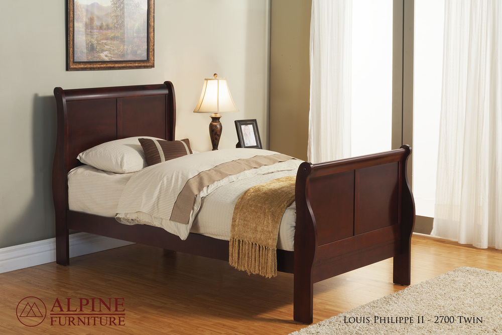 Louis Philippe II Twin Bed