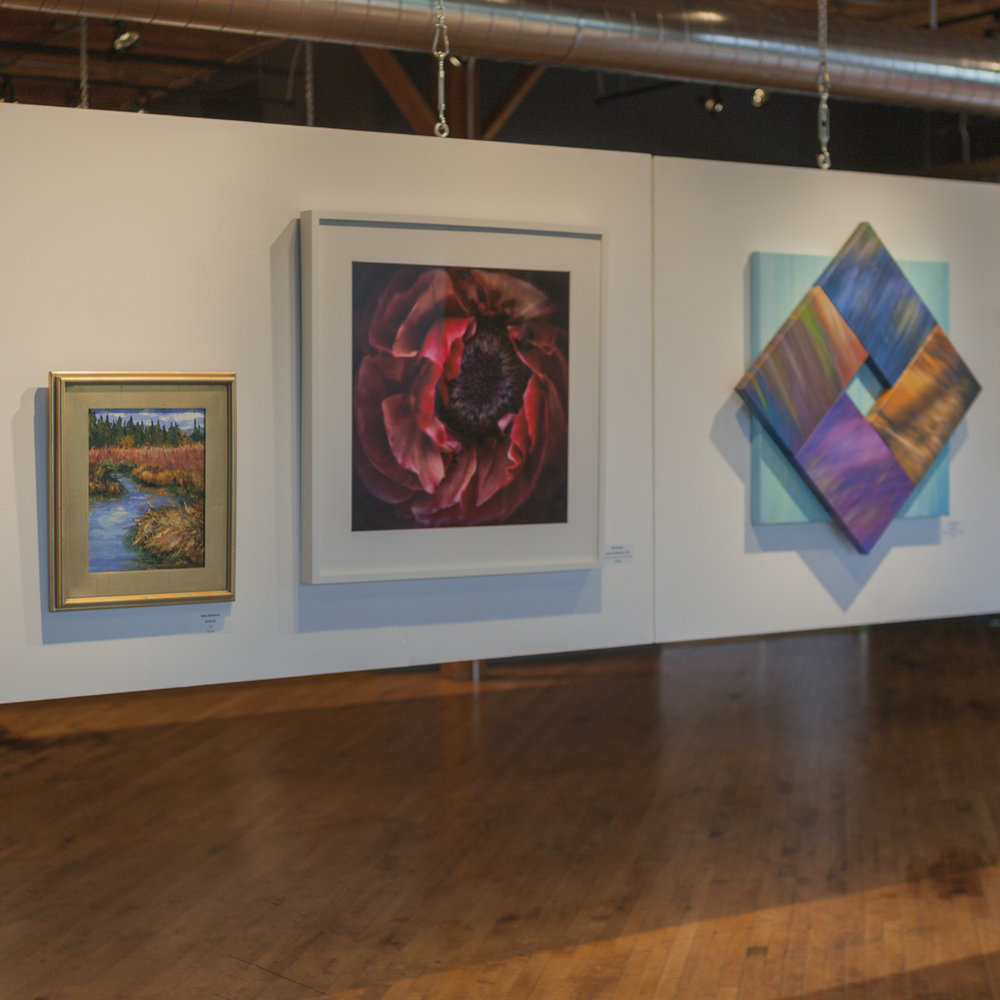 Center of Attraction -  Red,  NEMAA Fall Fine Arts Show, Installation View