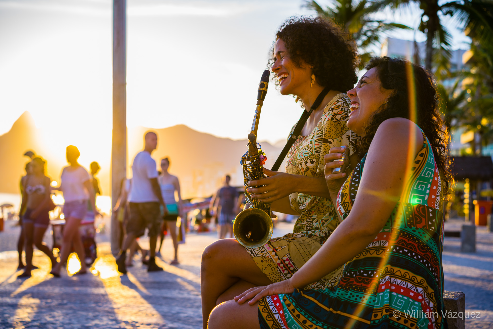 Musicians on Copacabana beach
