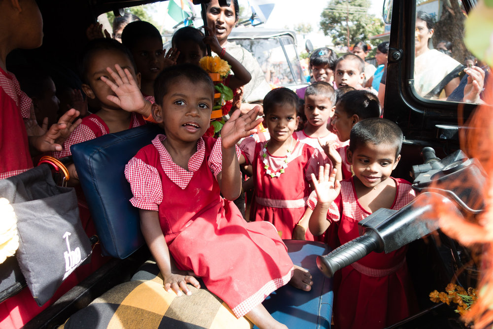 The kids loved our rickshaw