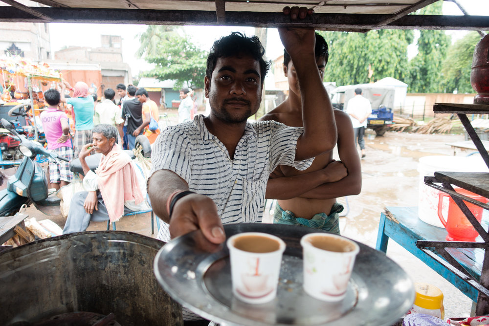 Chai while you wait to see if the bridge is washed out....It was