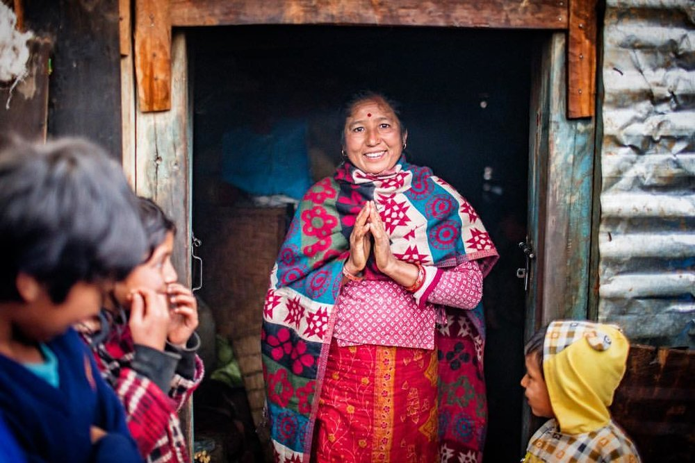 One of my favorite assignments of 2016. It's amazing how much compassion the organizations I work with have for the people they help. On assignment for Americares documenting their rebuilding efforts after the devastating earthquake in Nepal. This is Junkiri, she was seriously injured when her house collapsed on her during the earthquake. @americares helped her with much needed physical rehabilitation so she could help in providing for her children. I went with her doctor up into the mountains of the Sindhupalchowk district to follow up on her progress. She is doing great and was happy for us to all crowd into her house.