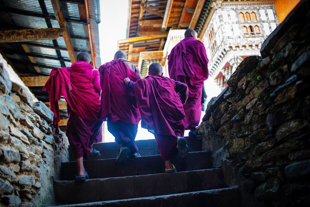 Young monks traveling in packs at a Monastery in Bhutan. I led a photo workshop with @cameravoyages to Bhutan/Nepal. I was part den mother, teacher, cat herder, guide, doctor, storyteller, and therapist. Taking people to experience the world the way I do when on assignment is a pleasure and a privilege.