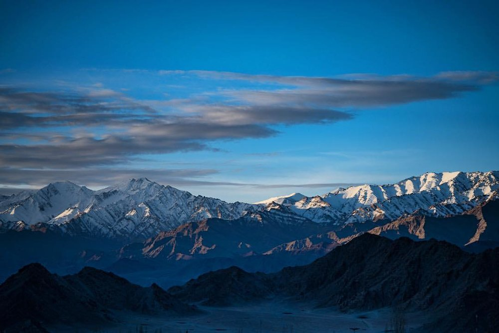 Woke up at 11,000 and beautiful vistas. Himalayas, Ladakh, India.