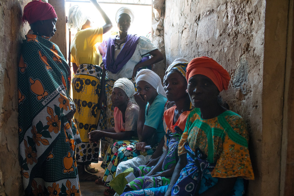 Women outside of Mombassa, Kenya waiting their turn to b examined for obstetric fistula.