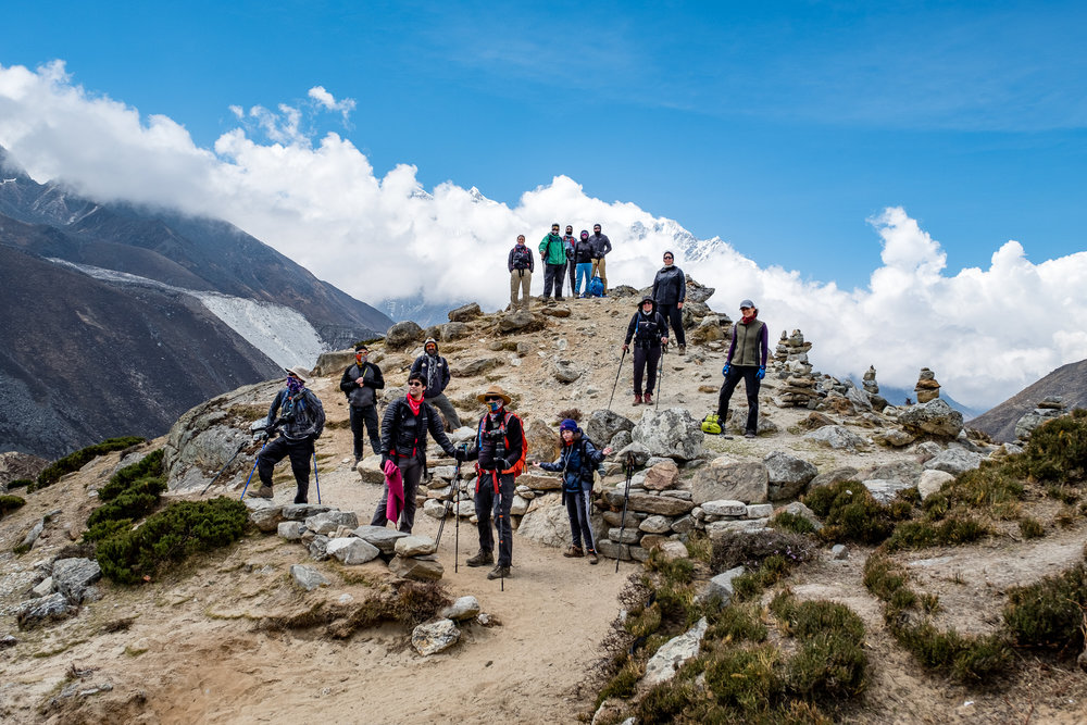 Took a group to photograph in Nepal, and trekked to Everest Base Camp, Nepal.