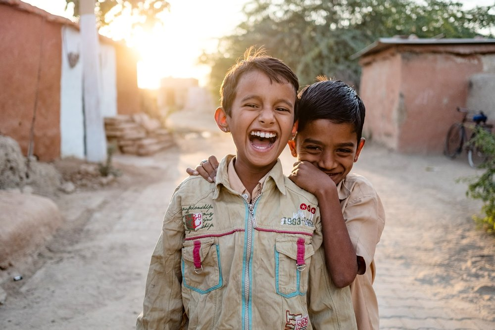 """Happy boys"" No matter what peoples circumstances are, they can be happy. India, one of my favorite places."