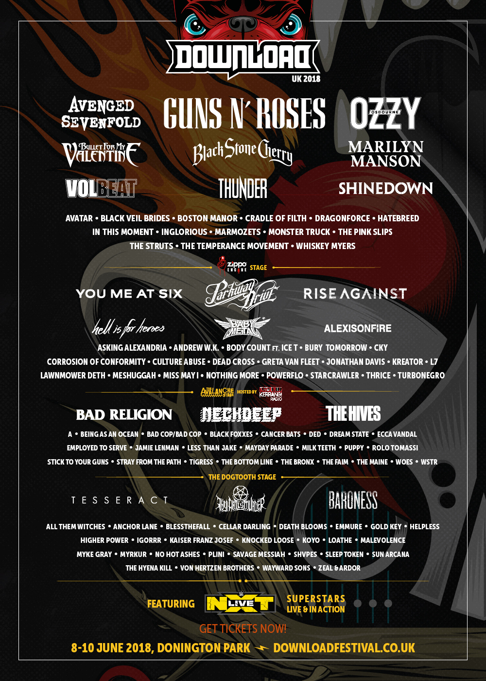 Download Festival 2018: WWE NXT and 21 bands join line-up