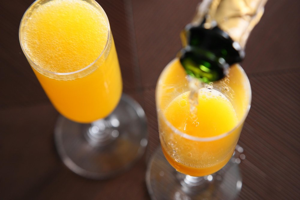 Mimosas will be served at the bar!