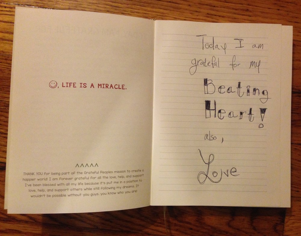 """""""Today I am grateful for my Beating Heart!"""""""