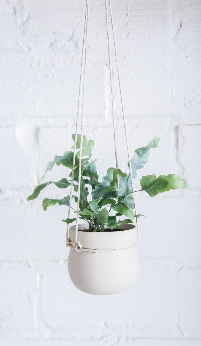 Kati Von Lehman Cinched hanging Planter, via Spartan Shop