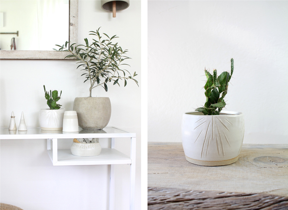 Ceramic Tabletop Planter via Wild Poppy Goods