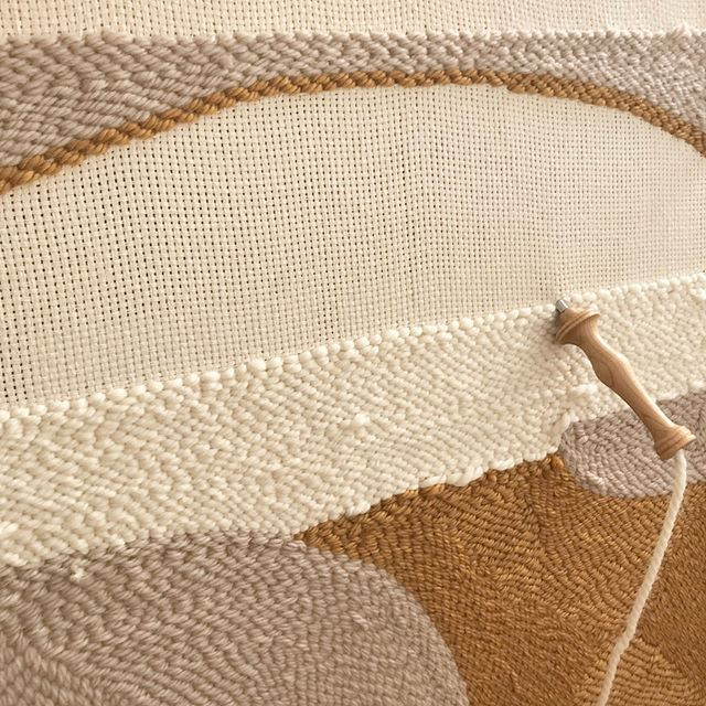 will see how it goes🤔 #wip #afternoonswimtextile . . #fiberart #textileart #textiledesign #wovenart #handwoven #artwork #homedecor #interiors #neutralhome #slowtextiles #slowliving #lifestyle