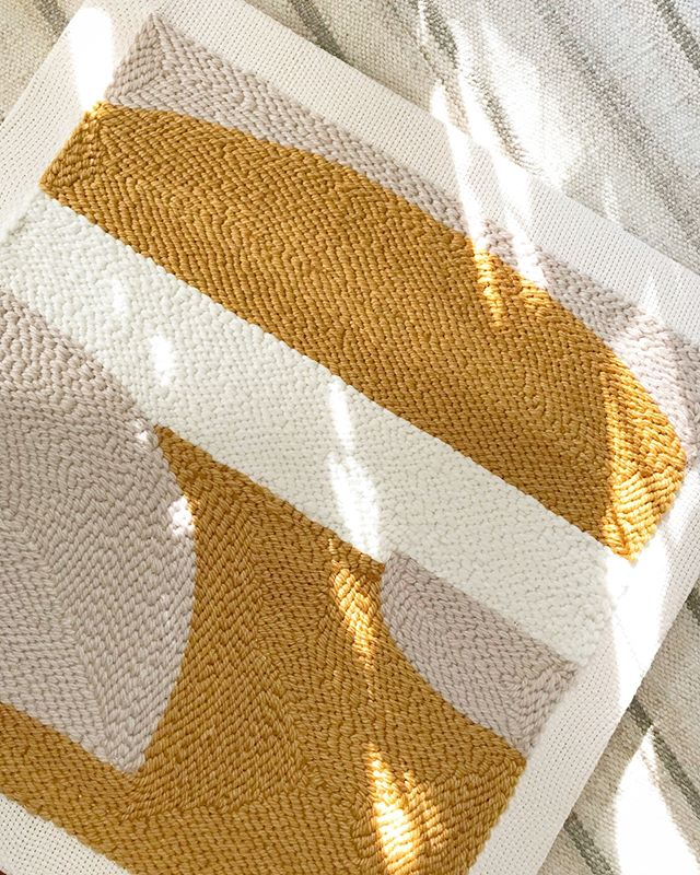 💛🧡 #afternoonswimtextile . . #textileart #fiberart #texture #handwoven #artwork #weavingart #rughooking #wovenart #slowtextiles #kinfolkhome #brooklynmade #handmade #textiledesign