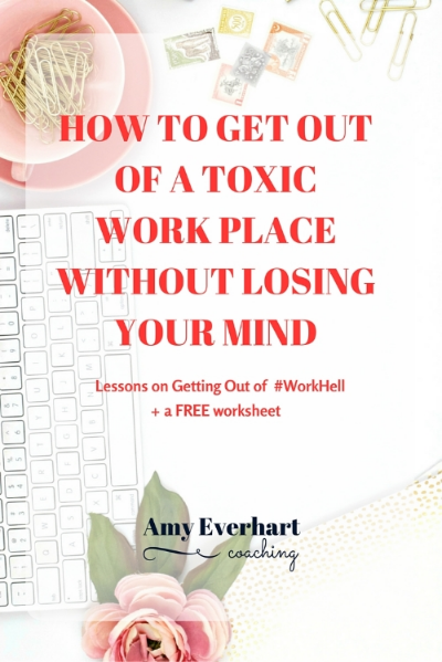 No one wants to be a toxic work situation.  If you're ready to make a change, I've got you.  Get your FREE Get Out of Work Hell Toolkit here.