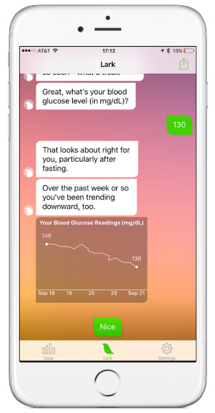 Let Lark Health help your track your blood glucose levels.