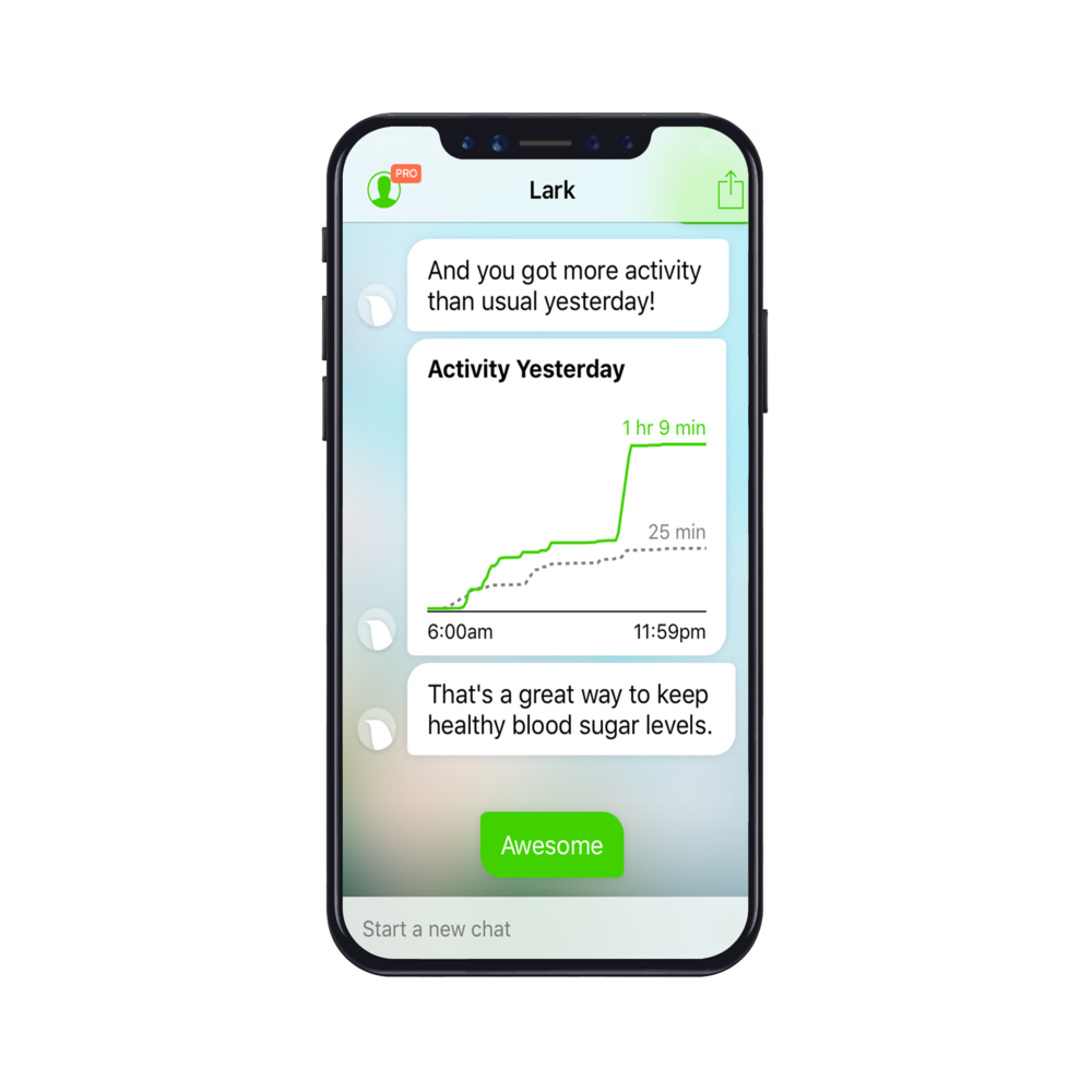 Let Lark help you track your exercise levels!
